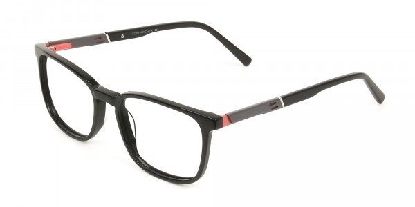 Lightweight Black Sport Style Rectangular Glasses - 3