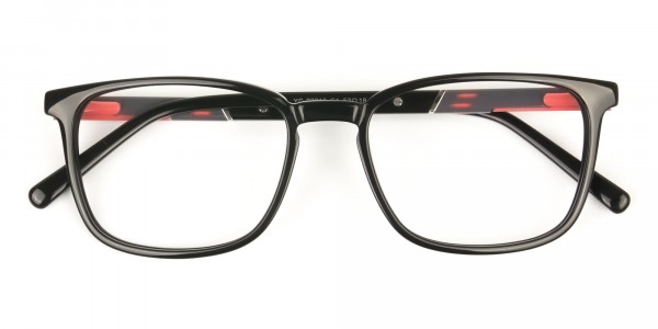 Lightweight Black Sport Style Rectangular Glasses - 6