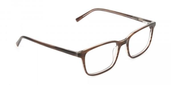 Hazel Brown Eyeglasses Rectangle & Acetate Frame - 2