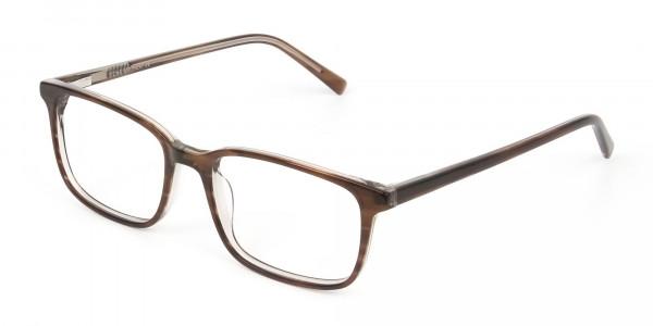 Hazel Brown Eyeglasses Rectangle & Acetate Frame - 3