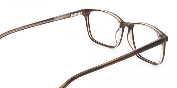 Hazel Brown Eyeglasses Rectangle & Acetate Frame - 5
