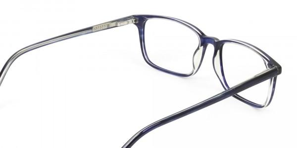Horn-Rimmed Royal Blue Eyeglasses in Retangle - 5