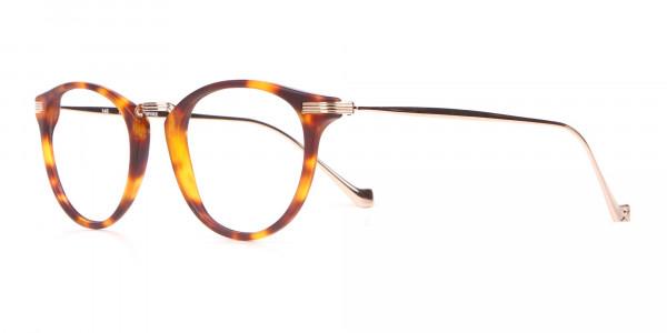 HACKETT Bespoke HEB173 Retro Round Glasses Tortoise & Gold-3