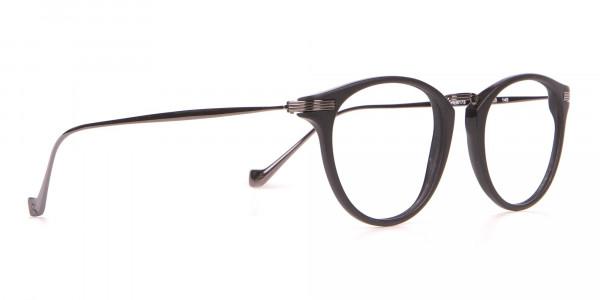 HACKETT HEB173 Bespoke Retro Round Glasses in Matte Black-2