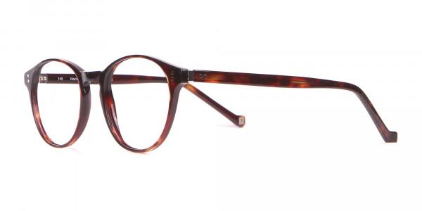 HACKETT Bespoke HEB218 Petite Round Glasses In Tortoise -3