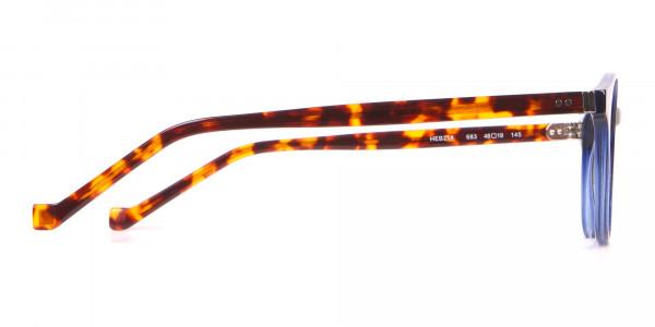 HACKETT Bespoke HEB218 Petite Round Glasses Navy & Tortoise-4