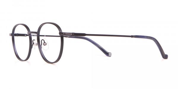 HACKETT HEB222 Bespoke Metal Classic Round Glasses Blue-3