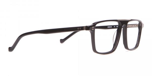 HACKETT HEB236 Wide Fit Rectangular Frame Black Horn-2