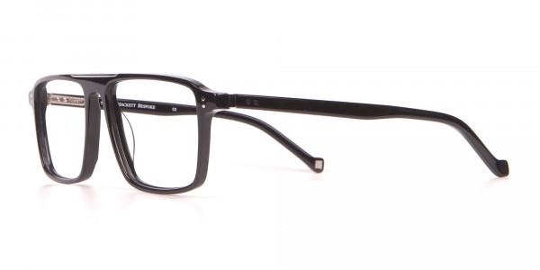 HACKETT HEB236 Wide Fit Rectangular Frame Black Horn-3