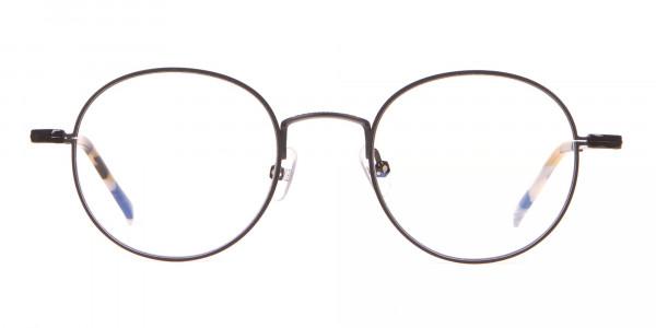 HACKETT Bespoke HEB241 Classic Round Glasses Black & Horn-1