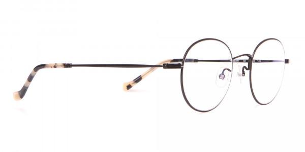 HACKETT Bespoke HEB241 Classic Round Glasses Black & Horn-2