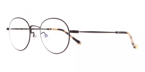 HACKETT Bespoke HEB241 Classic Round Glasses Black & Horn-3