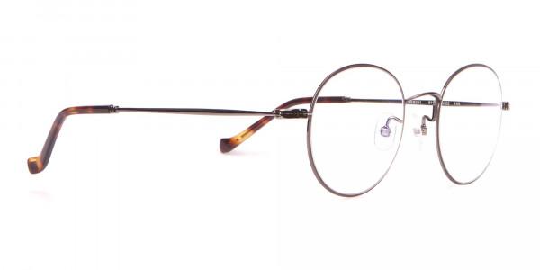 HACKETT Bespoke HEB241 Classic Round Glasses Gunmetal & Horn-2