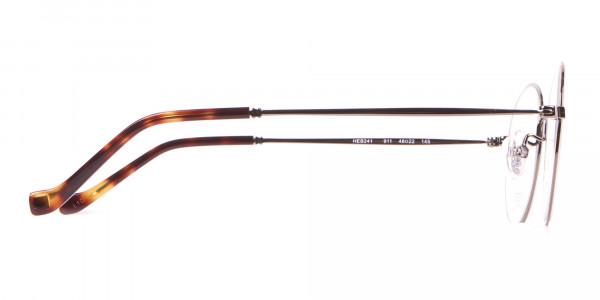 HACKETT Bespoke HEB241 Classic Round Glasses Gunmetal & Horn-4