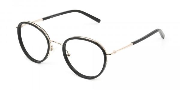 Retro Black & Silver Circular Glasses - 3