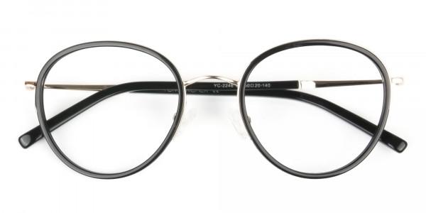 Retro Black & Silver Circular Glasses - 6