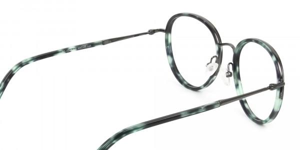 Gunmetal & Jade Green Glasses Frames - 5