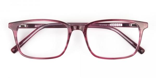 Cherry Red Eyeglasses in Horn-Rimmed Rectangle - 6