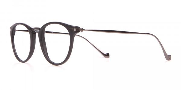 HACKETT HEB173 Bespoke Retro Round Glasses in Matte Black-3