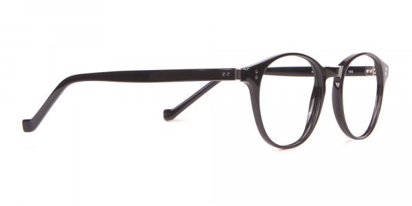 HACKETT Bespoke HEB218 Petite Round Glasses In Black -2