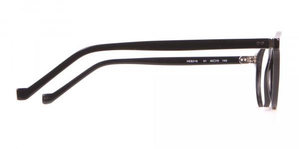 HACKETT Bespoke HEB218 Petite Round Glasses In Black -4