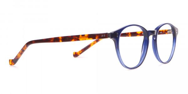 HACKETT Bespoke HEB218 Petite Round Glasses Navy & Tortoise-2
