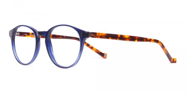 HACKETT Bespoke HEB218 Petite Round Glasses Navy & Tortoise-3