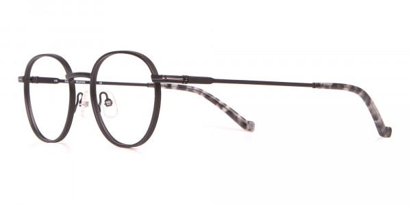 HACKETT HEB222 Bespoke Metal Classic Round Glasses Black-3