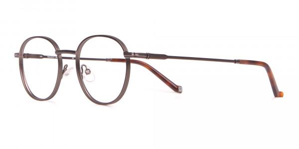 HACKETT HEB222 Metal Round Glasses Gunmetal & Tortoise-3