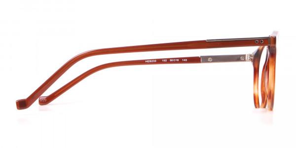 HACKETT HEB 233 Bespoke Retro Round Frame Brown Horn-4