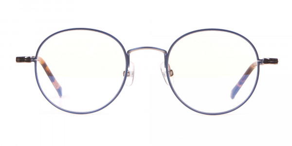 HACKETT Bespoke HEB241 Navy Blue Classic Round Glasses-1