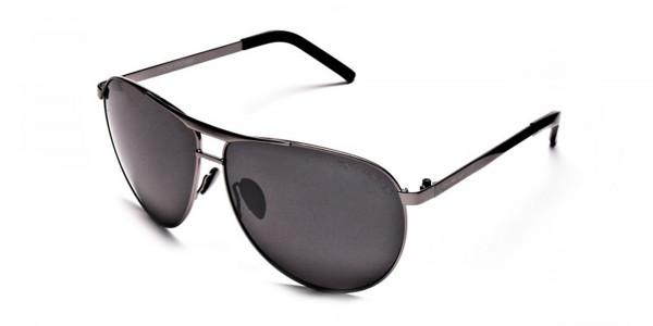Gunmetal Aviator Sunglasses - 2