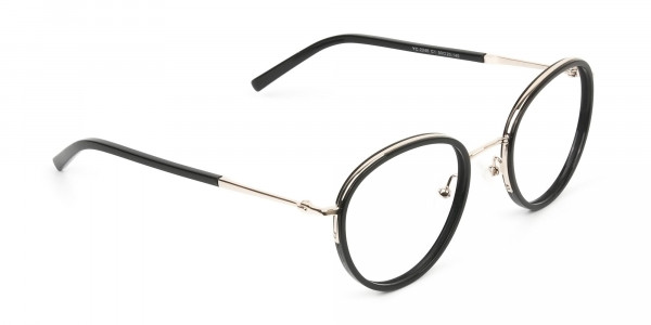 Retro Black & Silver Circular Glasses - 2