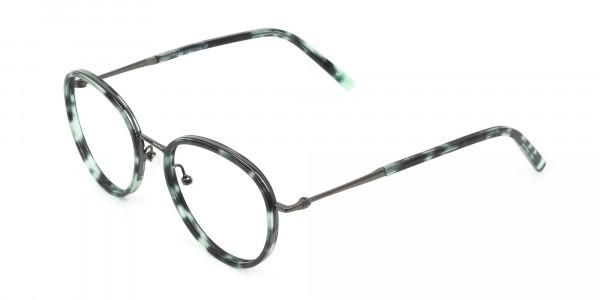 Gunmetal & Jade Green Glasses Frames - 3