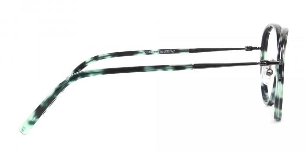 Gunmetal & Jade Green Glasses Frames - 4