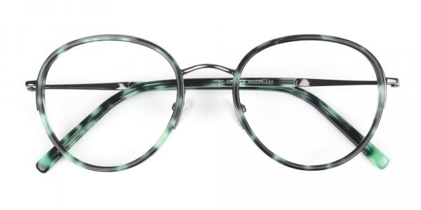 Gunmetal & Jade Green Glasses Frames - 7