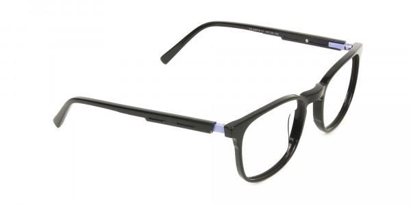 Sport Style Thick Big Black Square Glasses - 2