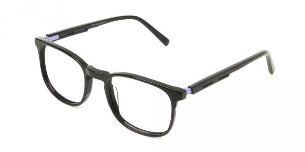 Sport Style Thick Big Black Square Glasses - 3