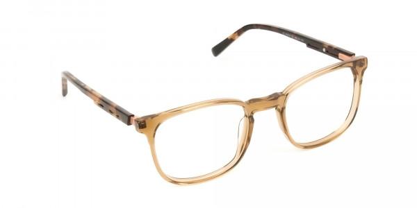 Translucent Brown Havana & Tortoise Large Square Tortoise Shell Glasses - 2