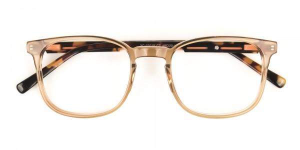 Translucent Brown Havana & Tortoise Large Square Tortoise Shell Glasses - 6