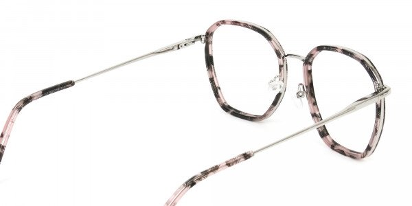 Geometric Octagon Nude Pink Tortoise Glasses- 5