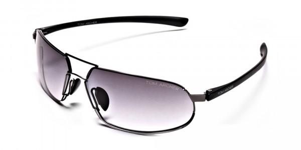 Wide Fit Sunglasses in Gunmetal - 2