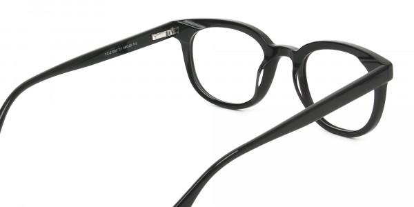 Black Vintage Horn Glasses in Wayfarer - 5