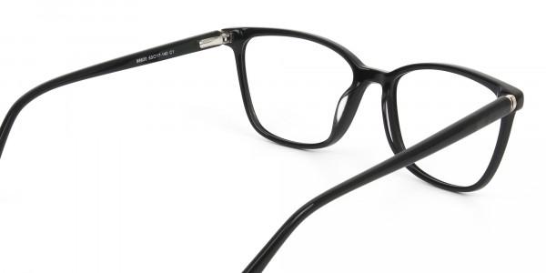 Women Nerd Black Acetate Spectacles in Rectangular - 5