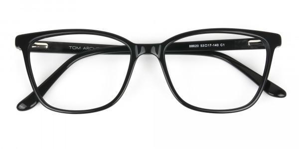 Women Nerd Black Acetate Spectacles in Rectangular - 6