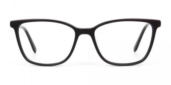 Acetate Dark Violet Spectacles in Rectangular - 1