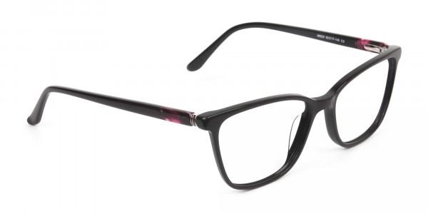Acetate Dark Violet Spectacles in Rectangular - 2