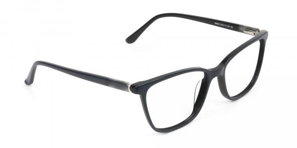Acetate Classic Blue Spectacles in Rectangular - 2