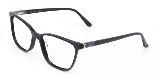 Acetate Classic Blue Spectacles in Rectangular - 3