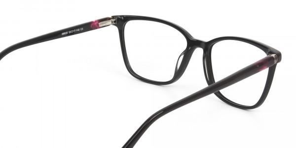 Acetate Dark Violet Spectacles in Rectangular - 5